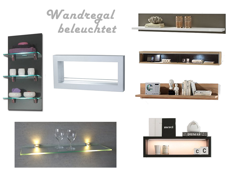 wandregal beleuchtet mit led kaufen. Black Bedroom Furniture Sets. Home Design Ideas
