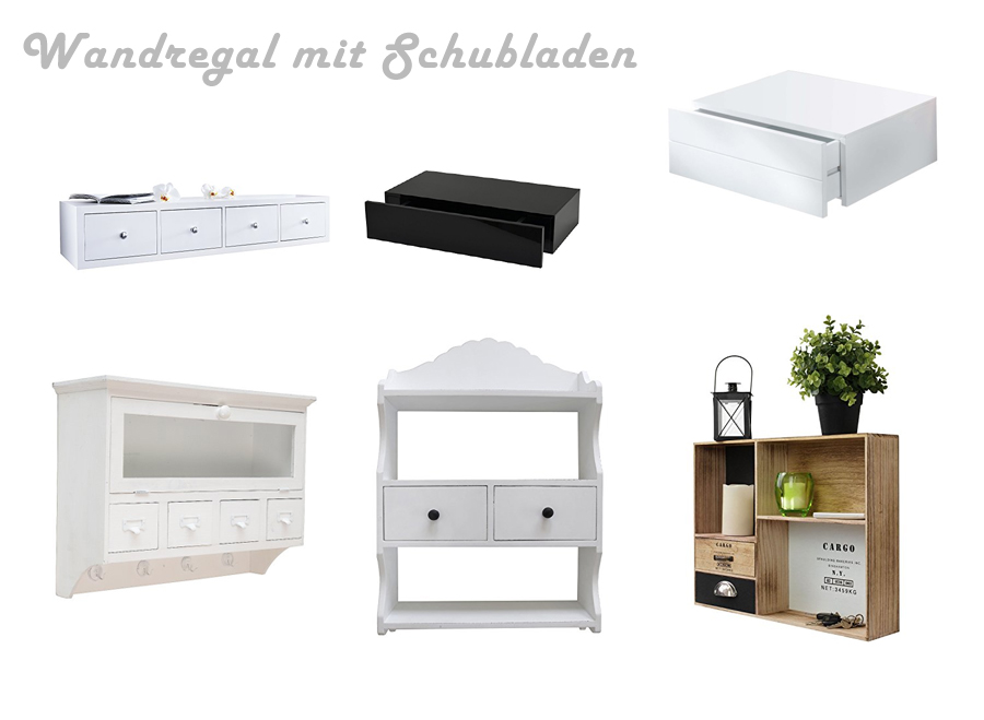 wandregal mit schubladen. Black Bedroom Furniture Sets. Home Design Ideas