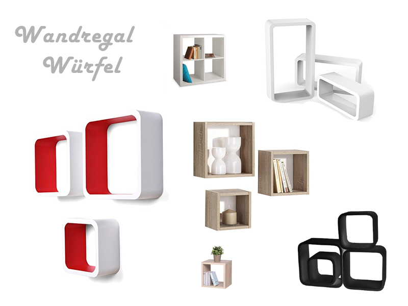 Wandregal Würfel
